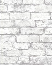 Davis White Brick Wallpaper by