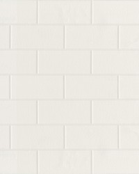 Galley White Subway Tile Wallpaper by