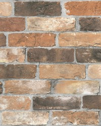 Adams Red Reclaimed Bricks Wallpaper by