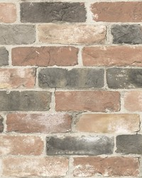 Adams Multicolor Reclaimed Bricks Wallpaper by