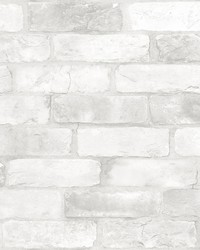 Adams White Reclaimed Bricks Wallpaper by