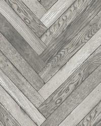 Altadena Grey Diagonal Wood Wallpaper by