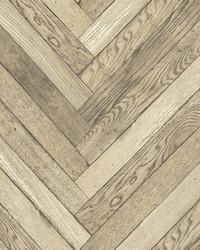 Altadena Light Brown Diagonal Wood Wallpaper by