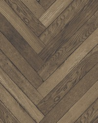 Altadena Brown Diagonal Wood Wallpaper by
