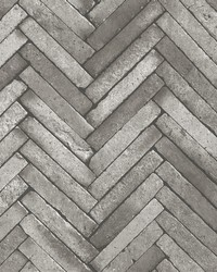 Arrow Dark Grey Diagonal Slate Wallpaper by