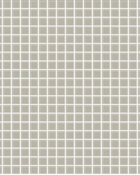 Tessellate Grey Glass Tile Wallpaper by