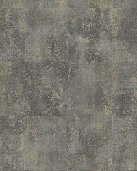 Azoic Dark Grey Brushstroke Squares Wallpaper by