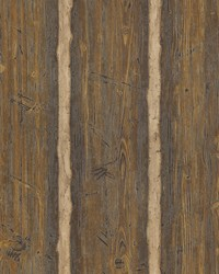 Hodgenville Brown Wood Paneling Wallpaper by