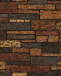 Madeline Brown Stone Texture Wallpaper by