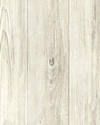 Thatcher Cream Wood Wallpaper by