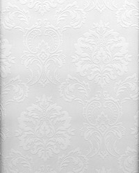 Plouf Paintable Damask Wallpaper by