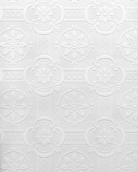Westerberg Paintable Ornate Tiles Wallpaper by  Brewster Wallcovering