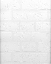 Bridgers Paintable Brick Wallpaper by  Brewster Wallcovering