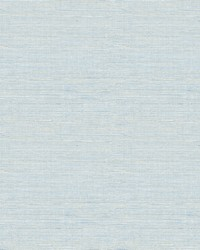 Lilt Blue Faux Grasscloth Wallpaper by
