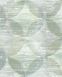 Alchemy Green Geometric Wallpaper by