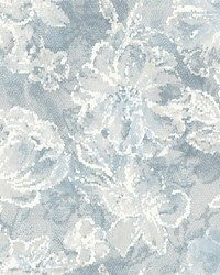 Allure Blue Floral Wallpaper by