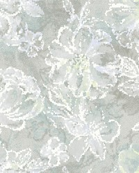 Allure Seafoam Floral Wallpaper by