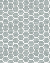 Aura Teal Honeycomb Wallpaper by