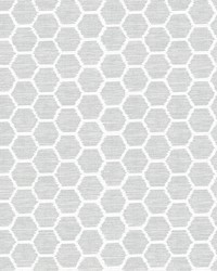 Aura Grey Honeycomb Wallpaper by