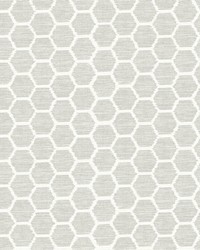 Aura Platinum Honeycomb Wallpaper by