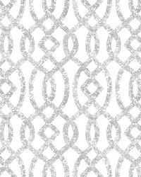 Ethereal Silver Trellis Wallpaper by