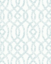 Ethereal Sky Blue Trellis Wallpaper by