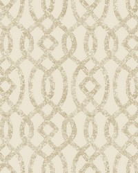 Ethereal Bronze Trellis Wallpaper by