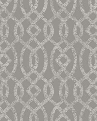 Ethereal Grey Trellis Wallpaper by