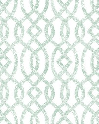 Ethereal Sea Green Trellis Wallpaper by
