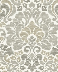 Garden of Eden Taupe Damask Wallpaper by