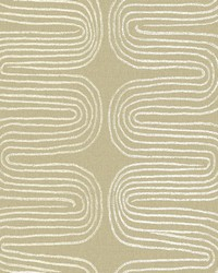 Zephyr Honey Abstract Stripe Wallpaper by