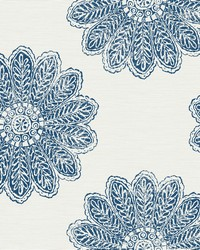 Sol Indigo Medallion Wallpaper by