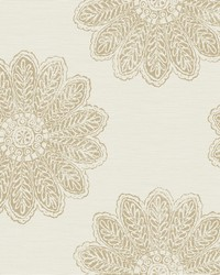 Sol Light Brown Medallion Wallpaper by