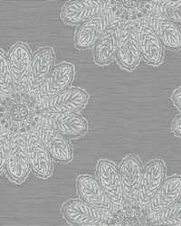Sol Slate Medallion Wallpaper by