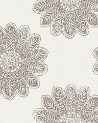 Sol Espresso Medallion Wallpaper by