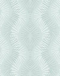 Feliz Seafoam Beaded Ogee Wallpaper by