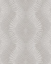 Feliz Champagne Beaded Ogee Wallpaper by