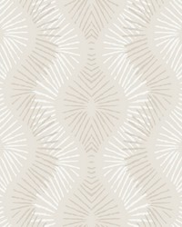 Feliz Platinum Beaded Ogee Wallpaper by