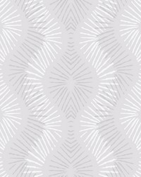 Feliz Silver Beaded Ogee Wallpaper by