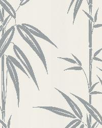 Saharan Silver Bamboo Stalk by  Brewster Wallcovering
