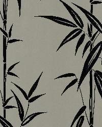 Saharan Pewter Bamboo Stalk by  Brewster Wallcovering