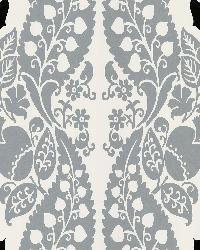 Dynasty Silver Panel Damask Stripe by  Brewster Wallcovering
