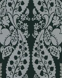 Dynasty Black Panel Damask Stripe by  Brewster Wallcovering