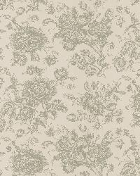 Pavot Beige Floral Toile by