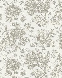Pavot White Floral Toile by