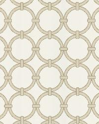 Lazo Beige Round Chain Link by  Brewster Wallcovering