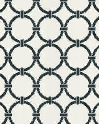Lazo White Round Chain Link by  Brewster Wallcovering