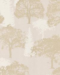 Forest Beige Trees by  Brewster Wallcovering