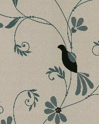Perdiz Taupe Mod Bird And Floral by