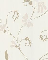 Perdiz Beige Mod Bird And Floral by  Brewster Wallcovering